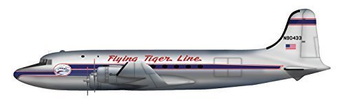 C-54A Skymaster 1/200 Die Cast Model N90433 Flying Tiger Line 1955 by Hobby Master by Hobby Master ()