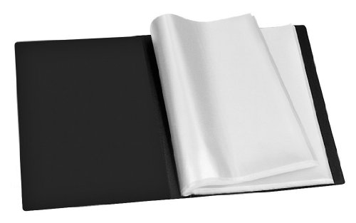 (Veloflex 4420180 Display Folder A4 Polypropylene with 20 Shrink-Wrapped Sleeves 40 Pages Black)