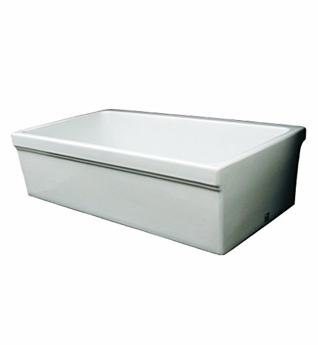 Whitehaus WHQ530-WH Farmhaus Quatro Alcove 30-Inch Reversible Fireclay Sink with Apron ()