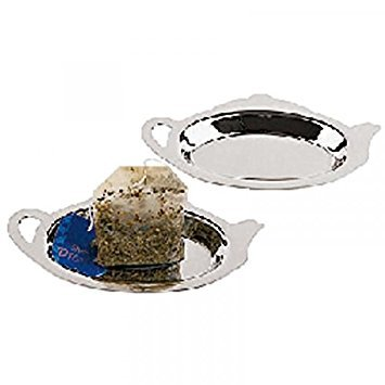 Tea Bag Rest, Stainless Steel, Set of 2 by Paderno World Cuisine