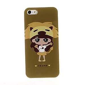 GONGXI-Serie de la muchacha encantadora caso de la cubierta suave de TPU para el iPhone 5/5S