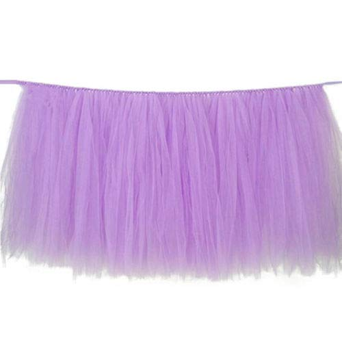 FidgetGear Tulle Tutu Table Skirt Tableware Wedding Party Xmas Baby Shower Decor Gift Lavender from FidgetGear