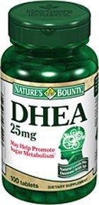 Pack spécial de 5 NATURES BOUNTY DHEA 25mg 100 comprimés 3421