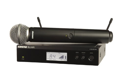 Shure BLX24R/SM58 Handheld Wireless System with SM58 Vocal Microphone, Rack Mount, H9 from Shure