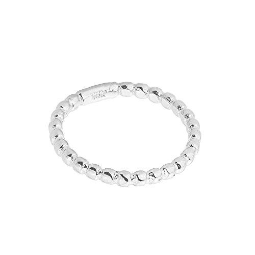 High Polish 14k White Gold Beaded Band Baby Ring, Size 2 - Baby Jewelry White Gold