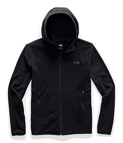 The North Face Men's TKA Glacier Full Zip Hoodie, TNF Black/TNF Black, XL