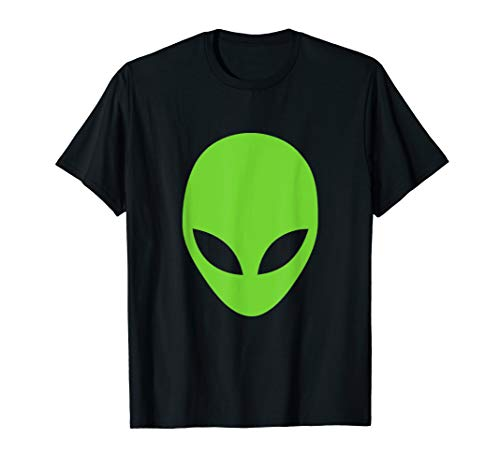 Alien T-shirt, Cool Looking Green Alien Head Shot