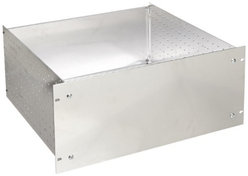 BUD Industries RM-14214 Aluminum Rackmount Chassis, 19 Width x 8-3/4 Height x 17-3/64 Depth, Natural Finish by BUD Industries