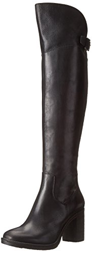 Donald J Pliner Women's Taria Over-the-Knee Boot, Black Calf, 7.5 M US