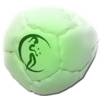 Pro Hacky Sack 12 Paneelen (GLOW In The DARK) Profi Freestyle Footbag! Hacky Sack für Anfänger und Profis, ideal für Stände, Fänge, Verzögerungen u. Tritte!