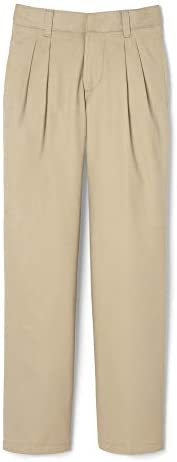 French Toast Boys Adjustable Waist Relaxed Fit Pleated Pant (Standard & Hu