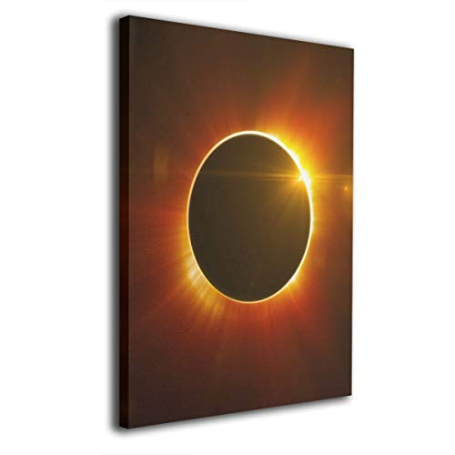 Baerg Solar Eclipse Frameless Decorative Painting Wall Art for Home and Office Decorations