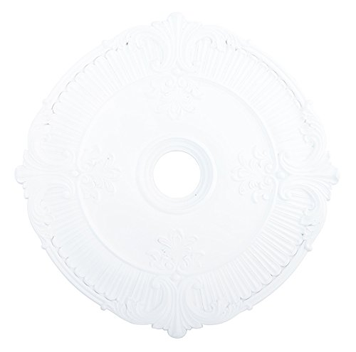 Livex Lighting 82034-03 Buckingham Ceiling Medallion, White Buckingham Ceiling Lighting