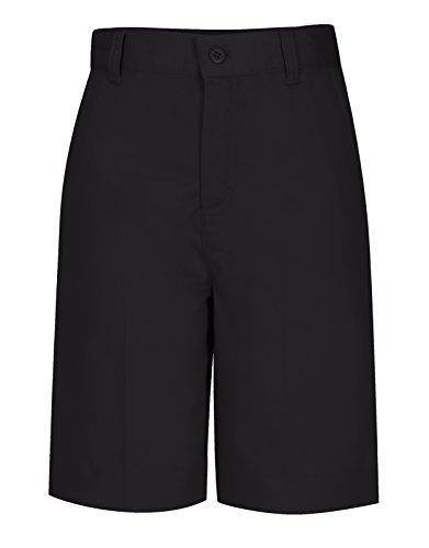 Classroom Uniforms CLASSROOM Big Girls' Adjustable Waist Flat Front Bermuda, Black, 14 by Classroom Uniforms