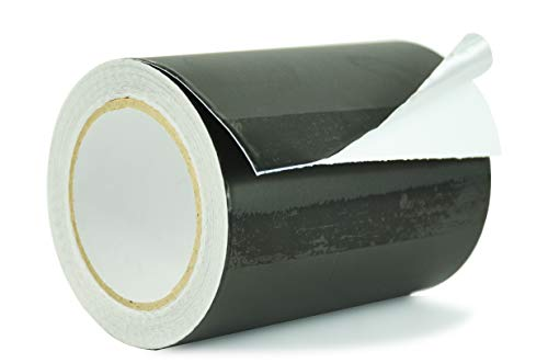 WOD AF-20A-B Black Matte Aluminum Foil Tape General Purpose Non Reflective Hot & Cold Shield Resistant - Good for HVAC, Air Ducts, Insulation, Metal Repair: 6 in. x 27 yds. (Pack of 1)