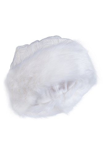 Womens Furry Winter Hat Soft Faux Fur Lightweight Warm Comfort Trendy Fleece White One Size