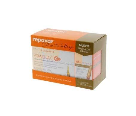 Repavar Revitalizing Vitamin C 20amp. + Repavar Metaglycans Antiage 3amp. (Gift) - Facial Care - Wrinkles & Fine Lines - Brightness And Luminosity - High Power - Intensive Skin Treatment - Spain