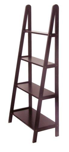 winsome wood 4 tier a frame shelf dark espresso - Decorative Shelving