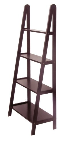 Winsome Wood 4-Tier A-Frame Shelf, Dark Espresso