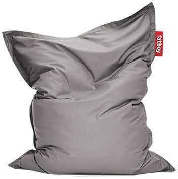 Fatboy® Original Puf / Bean bag para exterior | Gris | Clásico puff para exteriores, cojines | 180 x 140 cm: Amazon.es: Jardín
