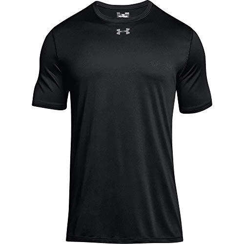 Under Armour Men's UA Locker 2.0 T-Shirt (Large, Black-Metallic Silver)