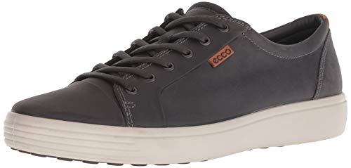 ECCO Men's Soft 7 Sneaker, Titanium Oil Nubuck, 44 M EU (10-10.5 US)