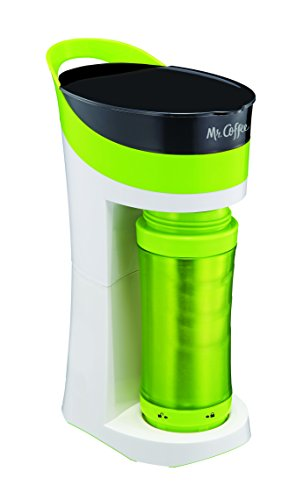 Mr. Coffee Pour! Brew! Go! Personal Coffee Maker, Sour Apple Green