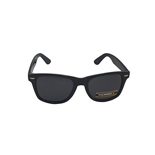 Retro Rewind Classic Polarized Wayfarer Sunglasses (Black, Black) (Retro Sunglasses Classic Wayfarer)