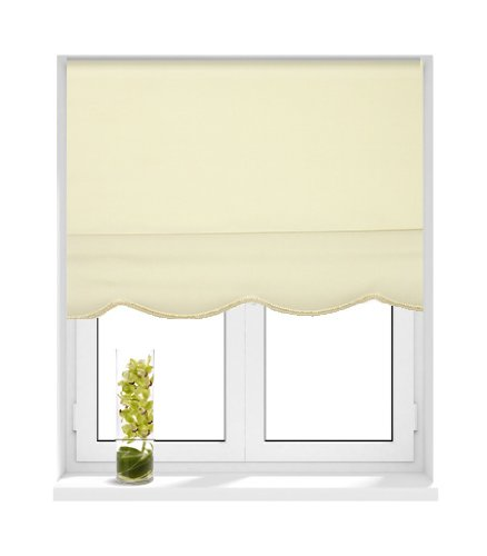 Sunlover Priory Scallop Roller Blind, Natural, W60cm