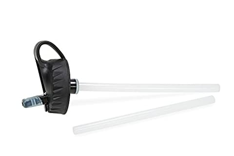 The TERRA LAB Wide Mouth Straw Lid for 63 mm Bottles with 2 Straws - Nalgene Lid
