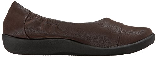 Brown Flat Nubuck Dark Intro Synthetic Clarks Cloudsteppers Sillian 8wqxqF1