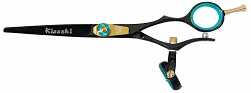 "Kissaki Hair Scissors Gokatana 6.0"" Double Swivel Black B Ti"