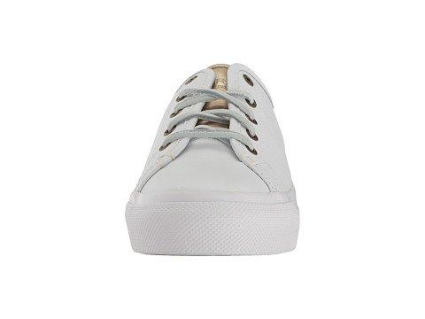 (スペリートップサイダー) SPERRY TOPSIDER レディースウォーキングシューズ?カジュアルスニーカー?靴 Sky Sail Leather White/Gold 9.5 26.5cm M (B) [並行輸入品]