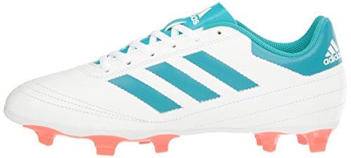 newest 9af09 b7f9b adidas Performance Women s Goletto VI FG W Soccer Shoe, White Energy Blue  Easy Coral
