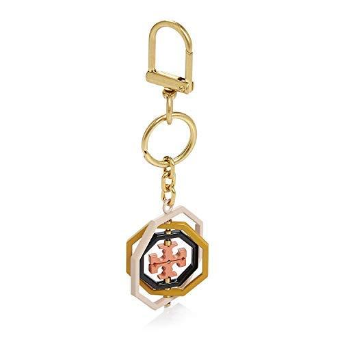 Tory Burch Rotating Geo Logo Key FOB Bag Charm, Ballet Pink Multi (Keychain Tory Burch)