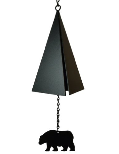 (Modern Artisans American Harbor Collection: 3-Tone Garden Wind Bell with Bear Wind Catcher )