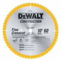 DEWALT DW3106 Series 20 10-Inch 60 Tooth ATB Thin Kerf Crosscutting Saw Blade with 5/8-Inch Arbor