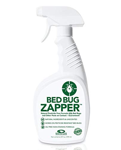 BED BUG, DUST MITES, & FLEA KILLER SPRAY - 24 oz - KILLS ON CONTACT - Natural, Pesticide-Free, Child & Pet Friendly - Stain & Odor Free!