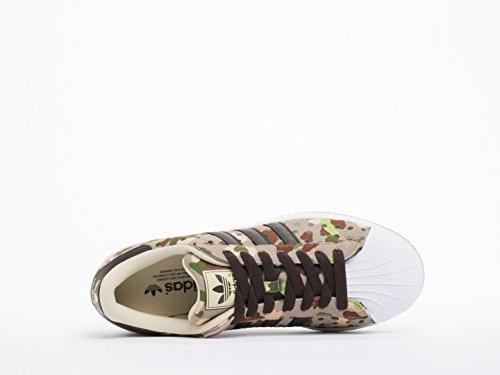 adidas Originals Herren Superstar Casual Sneake Cargo Khaki / Dunkelbraun / Weiß
