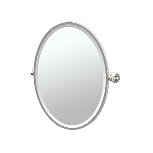 Gatco 4369F Charlotte Framed Oval Mirror, Satin Nickel