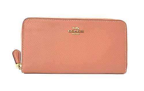 Coach Pebble Leather Accordion Zip Around Wallet (IM/Melon)