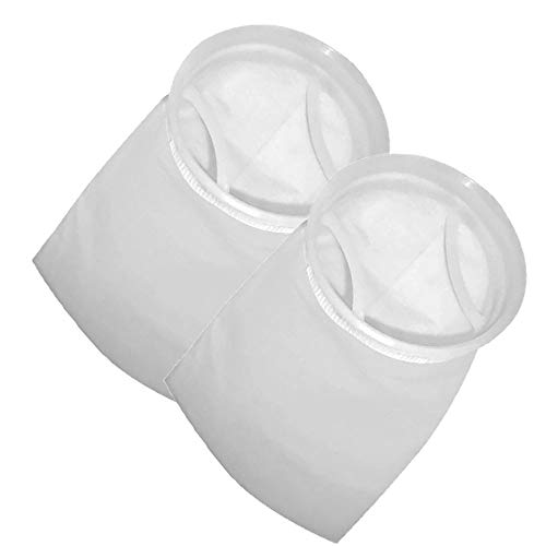 Bags Liquid Filter (Honritone 7 Inch Ring by 18 Inch Long Filter Socks 50 Micron - Aquarium Sump Pond Felt Fabric Filter Bag - 2 Pack)