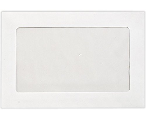6 x 9 Full Faced Window Envelopes - 28lb. Bright White (50 Qty.) | Perfect for Tax Season, Sending Pamphlets, Brochures and so much More! | Printable | 28lb Paper | FFW-69-50 by Envelopes.com