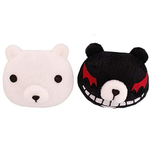 Anogol Black and White Bears Cosplay Hair Accessories Hairpin for Women and Girls
