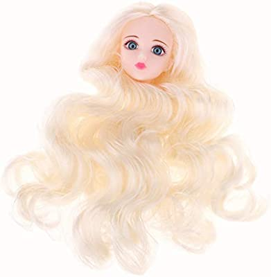 3D Eyes for 1//6 BJD XinYi Doll DIY Making Head Sculpt with Golden Wave Wig