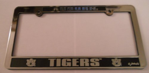 Auburn Tigers Silver & Black Auto License Frame