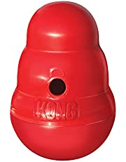 KONG - Wobbler - Interactive Treat Dispensing Dog Toy, Dishwasher Safe - for Large Dogs, Red