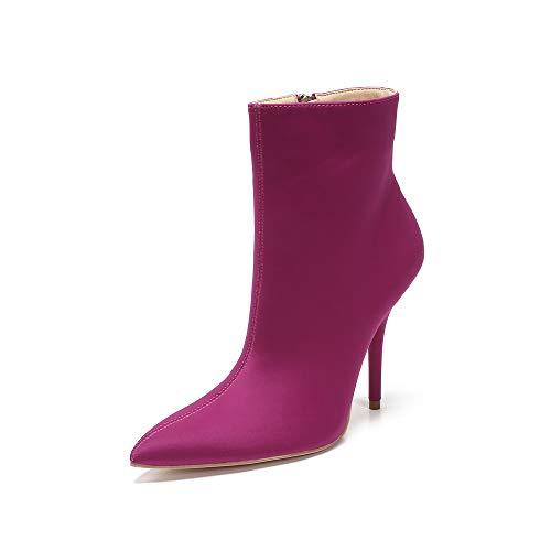 MACKIN J 306-1 Women's Neon Faux Leather/Fabric Classic Toe Ankle Bootie(7, Fuschia)