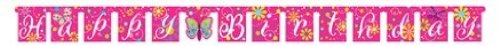 Jointed Happy Birthday Banner, Butterfly Sparkle