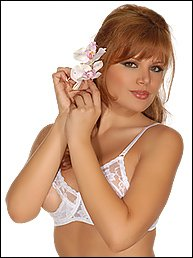 a27bb13f8f6 Shirley of Hollywood Lace Underwire Open Tip Bra with Adjustable Straps and  Back White 32